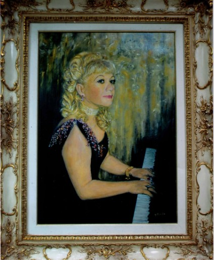 Portrait of Adilia ALIEVA made by Denise BIONDA, famouse french painter